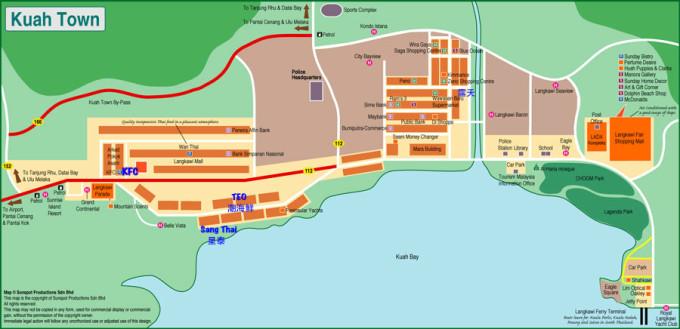 卡威中英文地图)