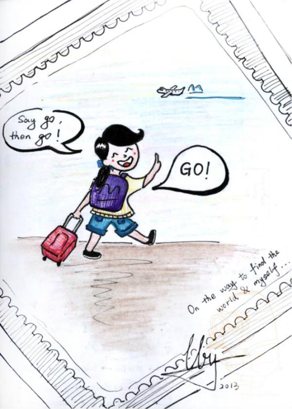手绘版之by的一个人旅行两天暴走瑞士