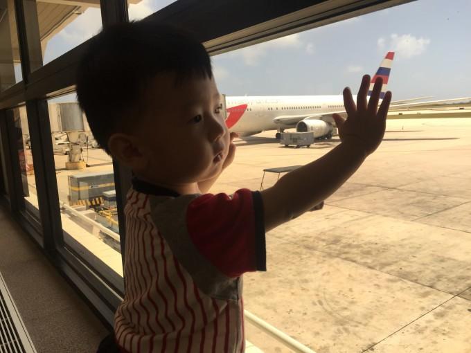 飞机起飞,再看一眼塞班岛吧.