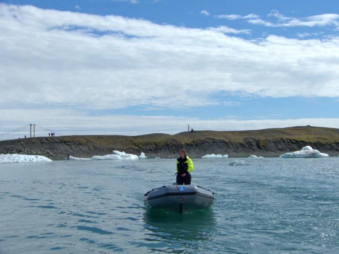 冰岛冰川湖