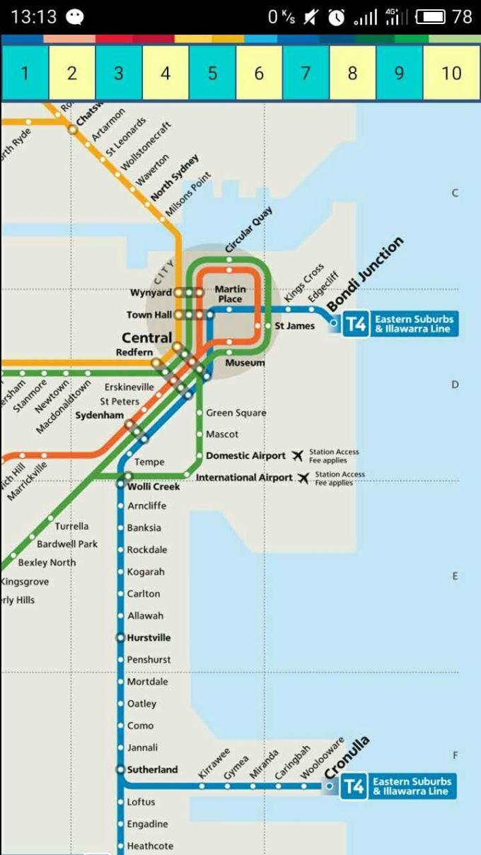 澳洲地铁路线图