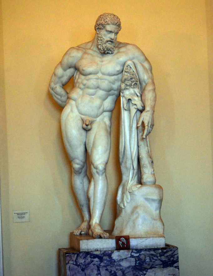 米开朗基罗雕塑作品《蜷缩成一团的小男孩》,是该馆的镇馆之宝之一.
