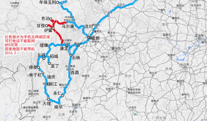 甘孜阿坝旅游景点地图